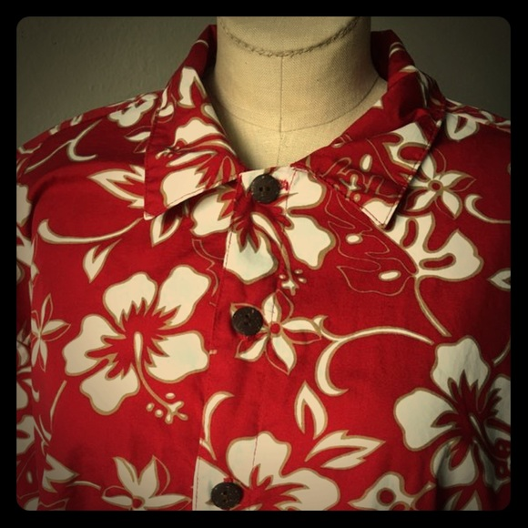 b1e3c659 Hilo Hattie Shirts | Mens Red Floral Print Hawaiian Shirt | Poshmark